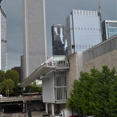 Chicago, Art Institute, Modern Wing, Looking North (Mary Warren 14.6+ Million Views) Tags: chicago urban architecture building artinstitute modernwing ramp skyscraper skyline cityscape