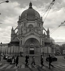 Abbey Road ? (Jon_Wales) Tags: beatles abbey road bruxelles brussels eglise marie belgium europe church tramlines crossing pedestrian zebra