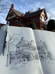 Ivy Hall Ponce De Leon Atlanta, Georgia (schunky_monkey) Tags: illustration art fountainpen penandink ink pen urbansketching journal drawing draw sketchbook sketches sketching sketch pleinair building architecture mansion house georgia atlanta ivyhall