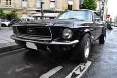 Ford Mustang Fastback (Monde-Auto Passion Photos) Tags: voiture vehicule auto automobile cars ford mustang coupé fastback sportive noir black ancienne classique collection légende france paris