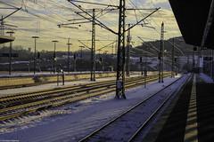 Montabaur (Christian Hoemke) Tags: canon canoneos1000d deutschland germany montabaur railroad rheinlandpfalz rhinelandpalatinate tamron tamron18270 tamrondiii18270mm13563 tracks trainstation westerwald winter bahnhof morning snow