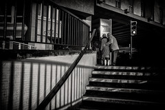 older love (Daz Smith) Tags: dazsmith fujifilmxt3 xt3 fuji bath city streetphotography people candid portrait citylife thecity urban streets uk monochrome blancoynegro blackandwhite mono lines shadows couple old older love tenermoment