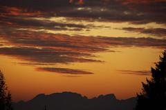Orange sunset (LB1415) Tags: sunset clouds autumn sky orange sun alps october europe pentax slovenia k200d lb1415 sunlight mountain nature landscape outdoor allrightsreserved interesting view