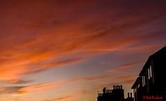 Aberdeen Houses Sunrise (0012) (red.richard) Tags: silhouette windows house sky red sunrise nikon d3300