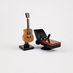 Singer/Songwriter Furniture (Curry House MOC) (betweenbrickwalls) Tags: lego afol furniture design legofurniture furnituredesign miniature