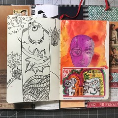 Day-off Doodles #art #draw #journal (Brian Lapsley) Tags: imagine artjournal journal make share think create art pencil pen doodle draw sketch