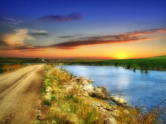 Country road 25 (Bill Tanata) Tags: landscape rural prairie road gravel waters pond sky outdoors country countryside photoart northdakota