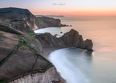 Spot the other photographer!!! (Nathan J Hammonds) Tags: sea seascape colour sunrise landscape photography long exposure pastel dorset coastline jurassic christmas