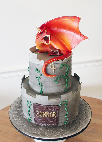 Dragon on Castle Cake