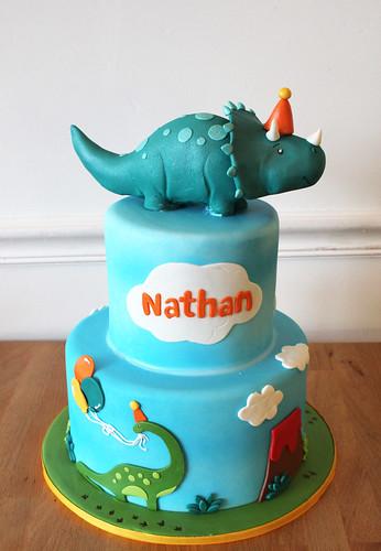 Triceratops birthday cake
