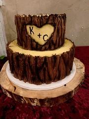 image1 (backhomebakerytx) Tags: backhomebakery back home bakery texas texasbakery cake tree bark initials wedding bride two tier groom grooms