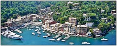 Safe haven! (john.methven) Tags: portofino tuscany italy travel water sea coast coastline boat yacht cruising blue architecture trees green lush