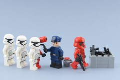 How Sith Troopers were actually made🎨 (Alex THELEGOFAN) Tags: lego legography minifigure minifigures minifig minifigurine minifigs minifigurines red white trooper sith officer blaster gray order first last