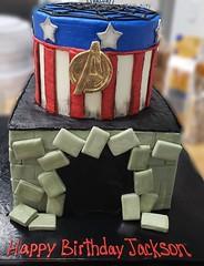 20191101_172647 (backhomebakerytx) Tags: backhomebakery back home bakery texasbakery cake kid birthday marvel captain america two tier
