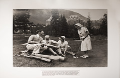Banff Springs Hotel Golf, Circa 1930 (Anthony Mark Images) Tags: photoofaphoto banffspringshotelgallery fairmonthotels banff beautiful oldphoto oldphotograph golf alberta canada circa1930 people portrait nikon d850 flickrclickx golfers 1930s smoking historicalpictures