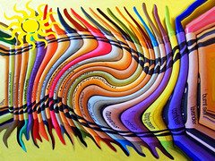 Melted (kfocean01) Tags: awardtree photoshop photomanipulation abstract art crayons colors netartll tools materials artdigital artisticmanipulatiion hss sliders sunday