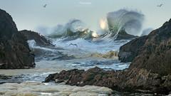 'Incoming' - Seal Rock, Oregon Coast (Gavin Hardcastle - Fototripper) Tags: oregon coast seal rock waves wind fototripper swells pacific ocean gulls nick page
