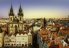 Praga - Praça da cidade velha e Catedral de Tyn (AChaby) Tags: acyro repcheca praga praça square igreja church