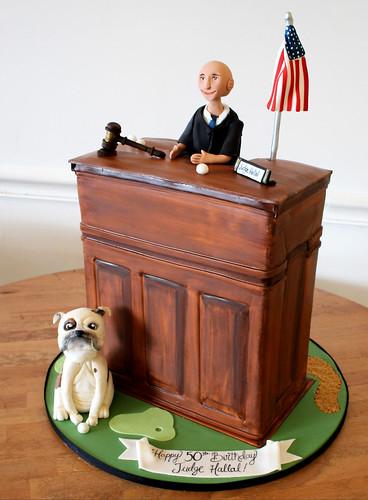 Judge at Bench Cake