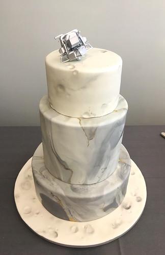 Moon Landing Marble Cake