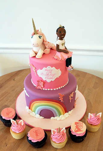 Unicorns and Rainbows cake