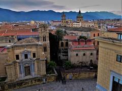 View over Palermo (fotoflo86) Tags: palermo chiesa church vista santa maria dell ammiraglio caterina alessandria san cataldo del gesu sicily sicilia martorana italia italy italien city urban