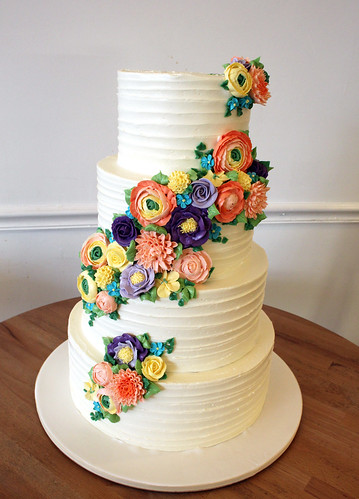 Buttercream Flower Cascade