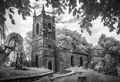 St Patrick Church (Rodney Harvey) Tags: abandoned ruin church ireland infrared rural decay cemetery graveyard tombstone stone uk creepy eerie spooky ancient bw surreal