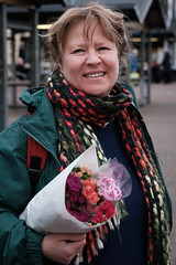 Lady with flowers (paul indigo) Tags: paulindigo authentic colour colourful fashion flowers lady market people portrait streetphotography style