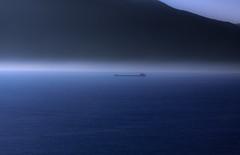 ....into a dream.... (robertoburchi1949) Tags: sea seascape water mist ship blue mountains landscape paesaggio nave monti acqua nebbia
