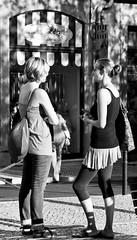 The Puppet's Kiosk (pedrosimoes7) Tags: street streetpassionaward streetimages streetshot streetlife streetlight talking talk girlstalking tourists tourism blackandwhite blackwhite blackwhitepassionaward blackandwhiteonly candidgirl candidandstreet largosãocarlos chiadolisbon portugal