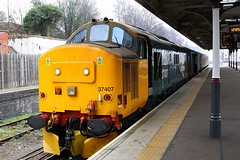 Platform 6 at Norwich (Chris Baines) Tags: drs 37407 sort set norwich 37403 south end prior working 1236 great yarmouth