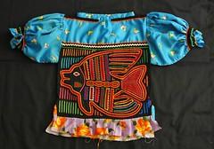 Guna Kuna Blouse Molas Panama Fish (Teyacapan) Tags: kuna guna blusa mola blouses panama sewing fish ropa clothing