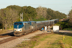 Plant City Golden Hour (TolgaEastCoast) Tags: amtrak passenger train p092 silver star plant city florida