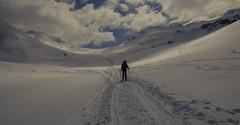 the long walk (peter-goettlich) Tags: snow landscape outdoor nature outside mountains austria tirol schnee landschaft natur berge östterreich clouds woken hiking backpacking travel wandern trecking skitour sehnsucht fernweh reiselust desire wanderlust alpinism mountaineering alpinismus backcountryskiing