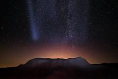Light Pollution (TigerPal) Tags: saskatchewan sask prairie plains summer astro astrophotography lightpollution stars skies sky avonlea avonleabadlands badlands night nightsky