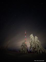 Akkanålke! (petergranström) Tags: approved akkanålke mast snow snö stars stjärnor trees träd clouds moln light ljus