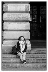 Serenity (Photography And All That) Tags: girl steps serenity portrait portraiture portraits poise column columns scarf scarves bag rucksack bags rucksacks stone blackwhite blackandwhite buildings building monochrome monochromatic monochromes sony sonyalpha7mark3 sonyalpha sonyilce7m3 streetphotography street candid candids