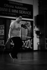 46900 - Rope (Diego Rosato) Tags: criterium giovanile young boxe boxing pugilato boxelatina little boxer piccolo pugile nikon d700 tamron 2470mm rawtherapee bianconero blackwhite rope corda salto jump