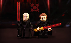 LEGO Star Wars : Custom Darth Plagueis & Young Palpatine (MGF Customs/Reviews) Tags: lego star wars bigkidbrix darth plagueis the wise emperor sheev palpatine sidious book novel custom figure minifigure minifig fan art painting painted diy