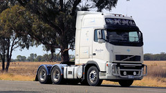 Runnin' Light Finley (1 of 2) (Jungle Jack Movements (ferroequinologist) all righ) Tags: running light bruce lees transport volvo fh yuline t909 kenworth kw kenny paccar nsw new south wales riverina hp horsepower big rig haul freight cabover trucker drive carry delivery bulk lorry hgv wagon road highway nose semi trailer deliver cargo interstate articulated vehicle load freighter ship move motor engine power teamster truck tractor prime mover diesel injected driver cab cabin loud wheel exhaust double b australia australian newell grain