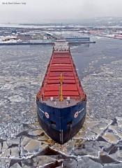 Tim S Dool (gus3221) Tags: timsdool ship duluth storm ice bnsf ore portterminal