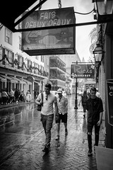 Bourbon Street (michael.mu) Tags: 35mm frenchquarter leica m240 neworleans summicron silverefexpro bourbonstreet rain streetphotography leicasummicronm1235mmasph