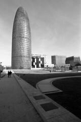 Torre Glories - Barcelona - December  2019 (cava961) Tags: barcelona torreglories glories analogue analogico monochrome monocromo bianconero bw canon tmax400