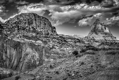 Capitol Reef National Park (donnieking1811) Tags: utah torrey capitolreefnationalpark capitolreef nationalpark park blackwhite blackandwhite bw monochrome outdoors landscape mountains sky clouds hdr canon 60d lightroom photomatixpro