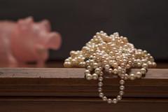 Pearls Before Swine (ruthlesscrab) Tags: pearl bead round sphere marble pig stilllife swine werehere hereios wah idioms