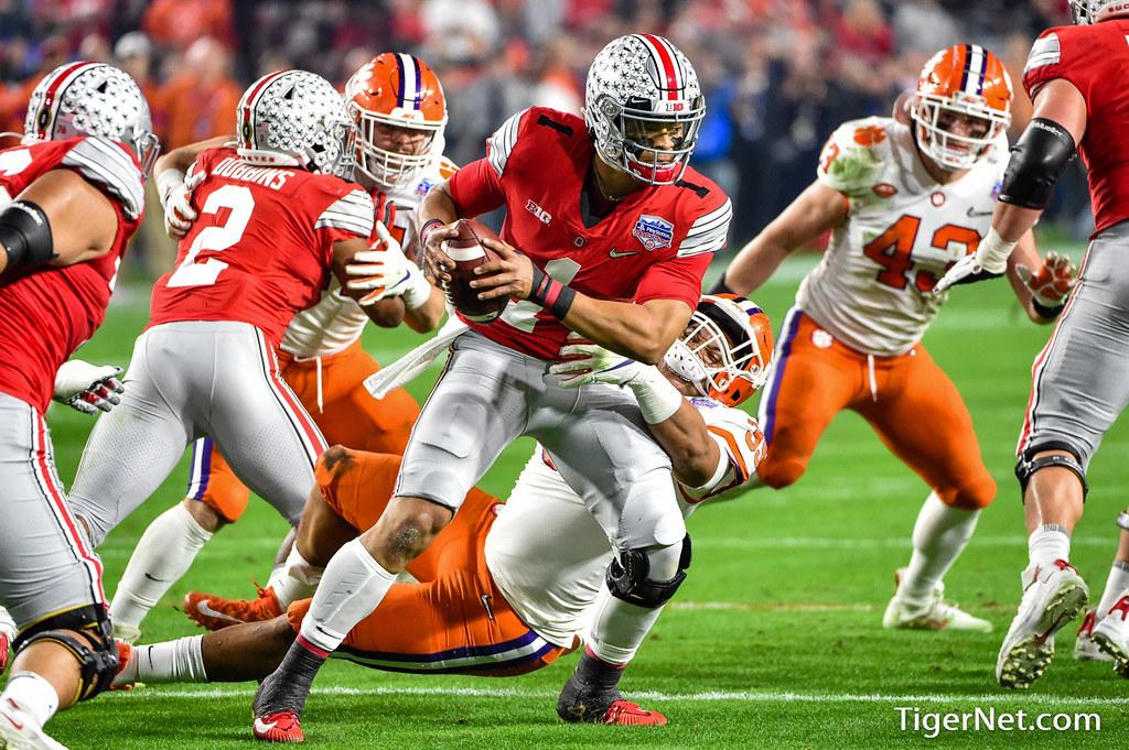 Clemson Photos: Justin  Mascoll, 2019, Football, ohiostate