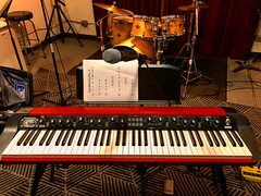 Keys & Drums (Pennan_Brae) Tags: mic microphone musicians keyboard cymbals drumkit drum drummer instrument instruments musicphotography jamsession practise rehearsal synthesizer drumset korg music percussion drums keyboards