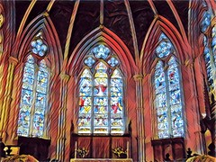 Cathedral Church of St. James ~ Toronto Ontario Canada ~  Ontario Heritage ~  Stain Glass Windows (Onasill ~ Bill Badzo - New Format) Tags: toronto on ontario canada heritage site cathedral church st james pipe organs nave alter exterior interior gothic parish 1850 style revival act episcopal anglican diocese royal george choir lawrence market music architecture wood carving mahogany georges college flowers cars vehicles garden city