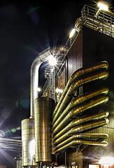 Industrie Gewirr Industrial tangle (ruedigerhey) Tags: hafen hamburg port night nacht industrie rohre tube lensfair design